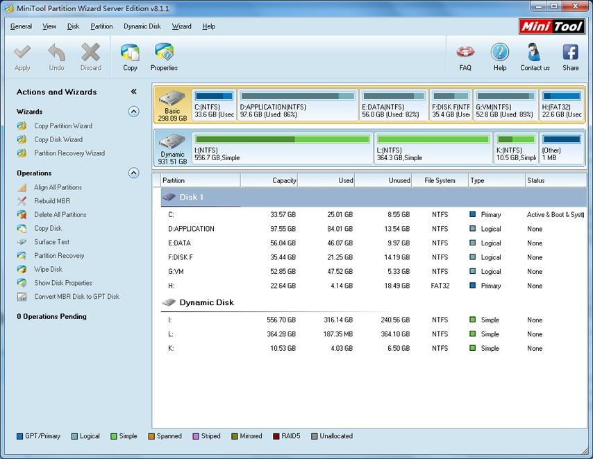 WatFile.com Download Free MicroSD con MiniTool Partition Wizard Home Edition per uso con Link2SD